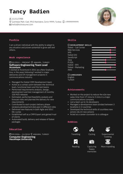Accenture Software Engineering Team Lead Resume