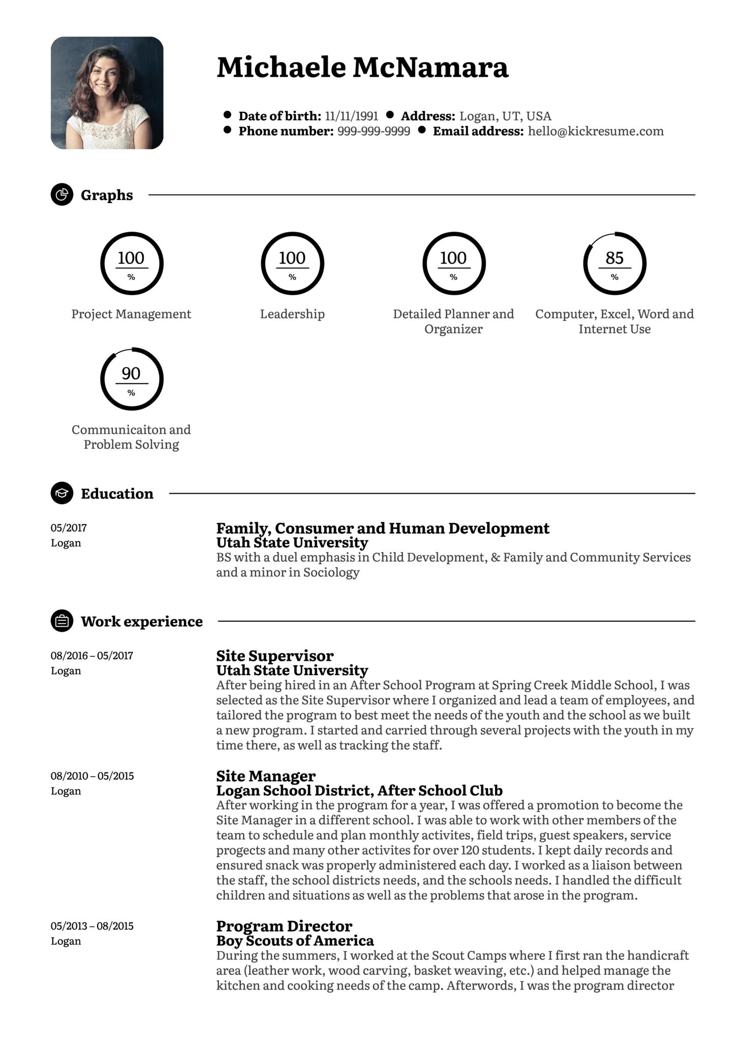 Refocus Specialist Resume Sample (Parte 1)