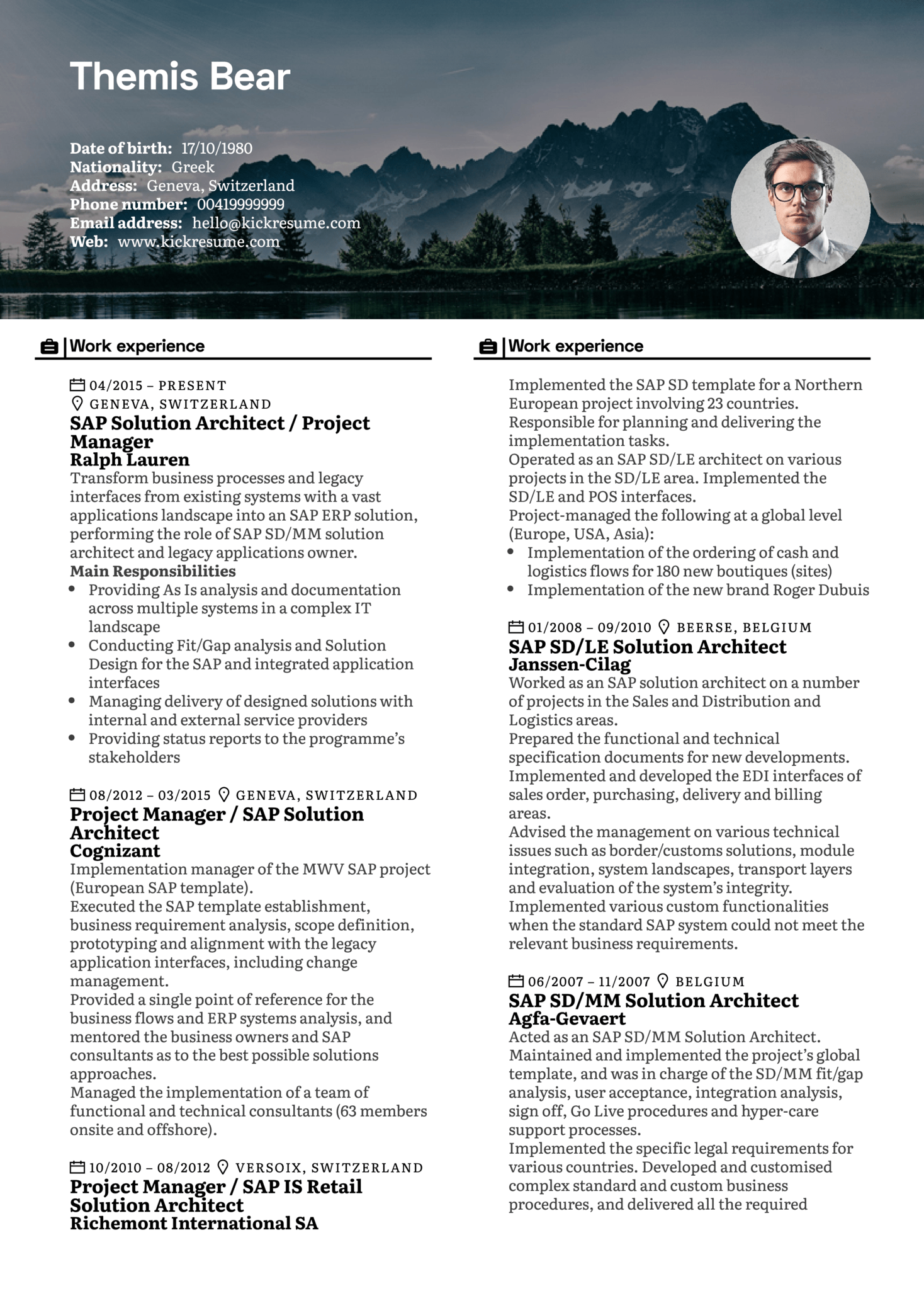 Project Manager Resume Sample (Part 1)