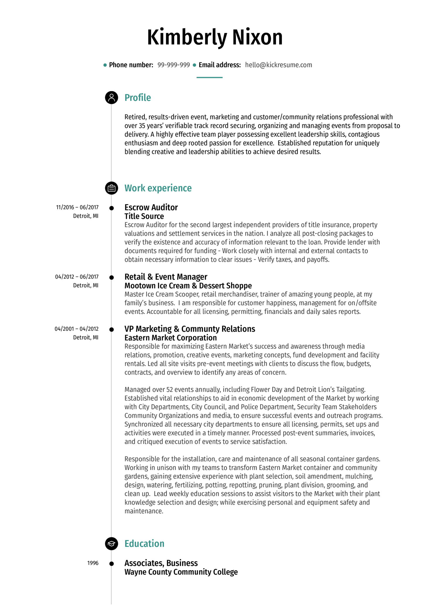 Escrow Auditor Resume Example (Part 1)