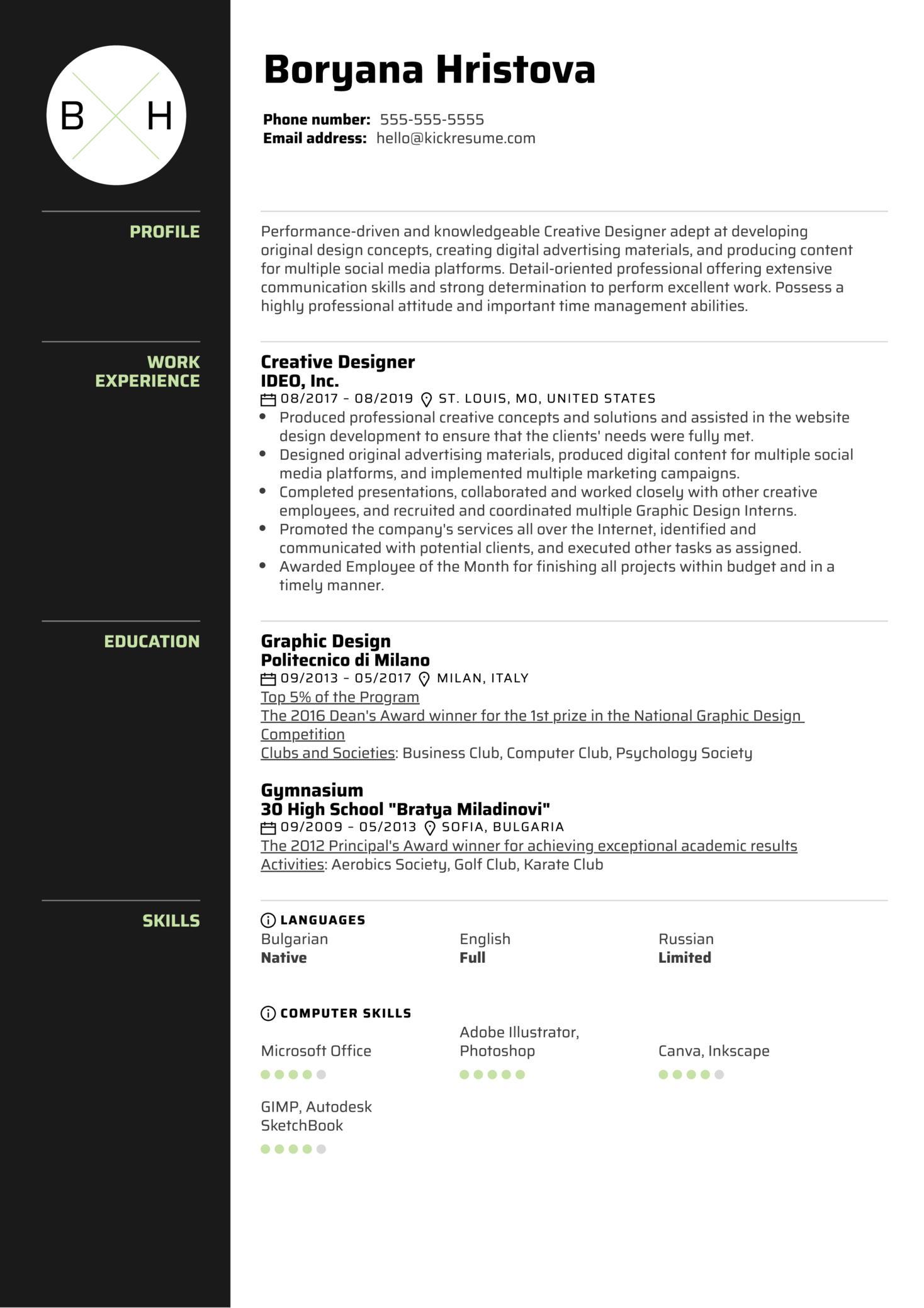 Creative Designer Resume Template (parte 1)