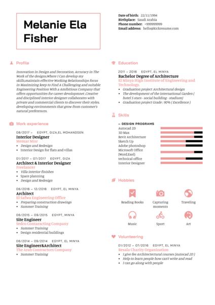 Architect Resume Sample