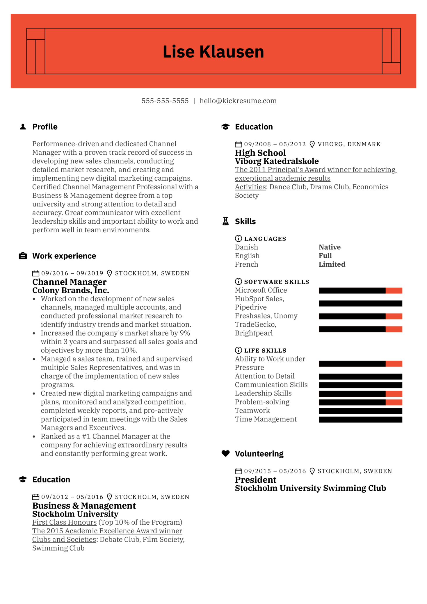 Channel Manager Resume Sample (Parte 1)