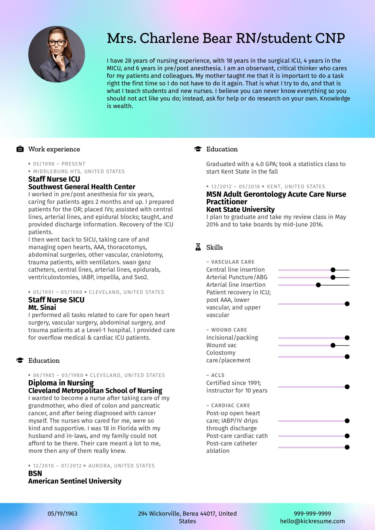 Nurse Resume Sample (parte 1)