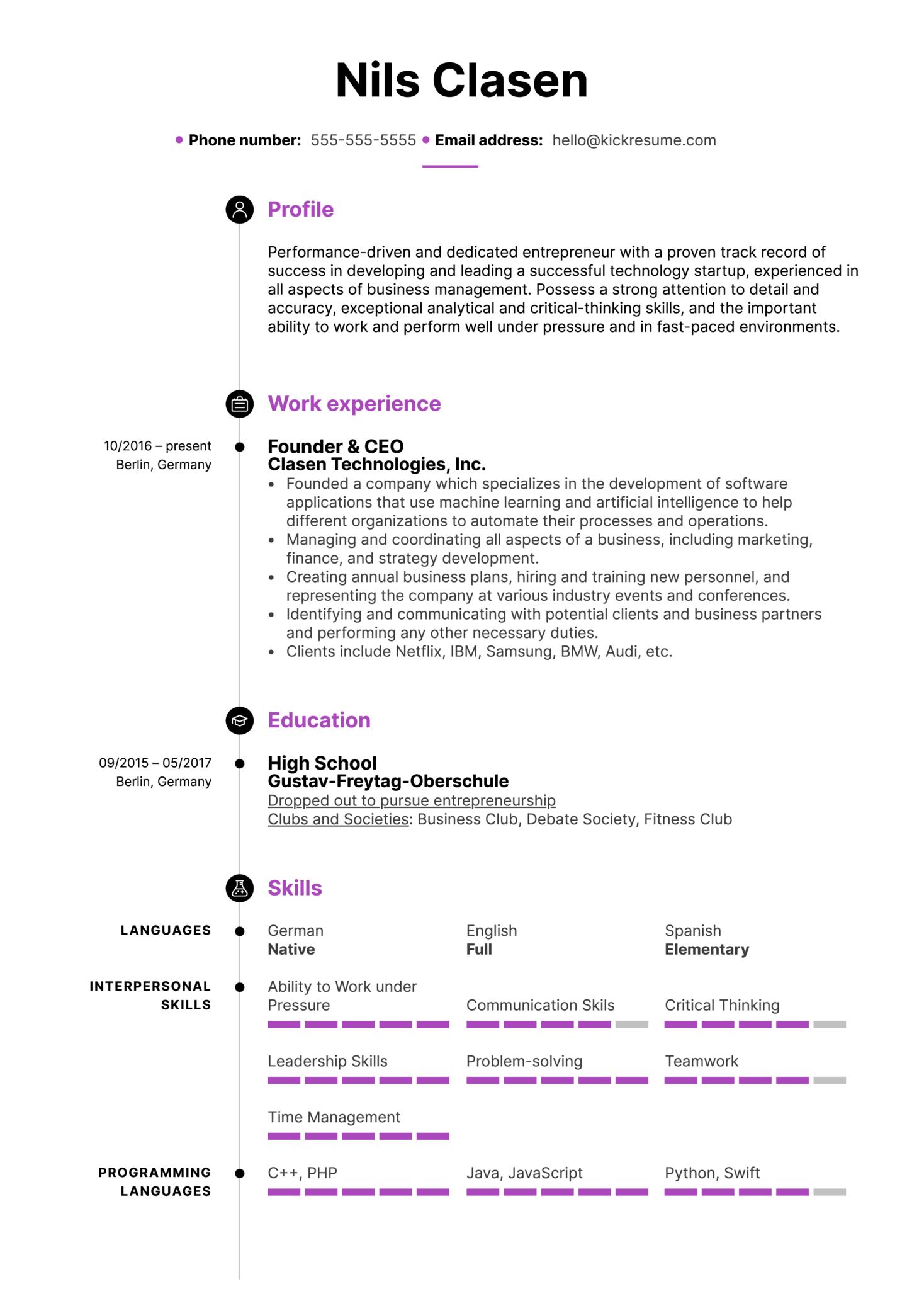 Didn't Graduate High School Resume Example (Teil 1)