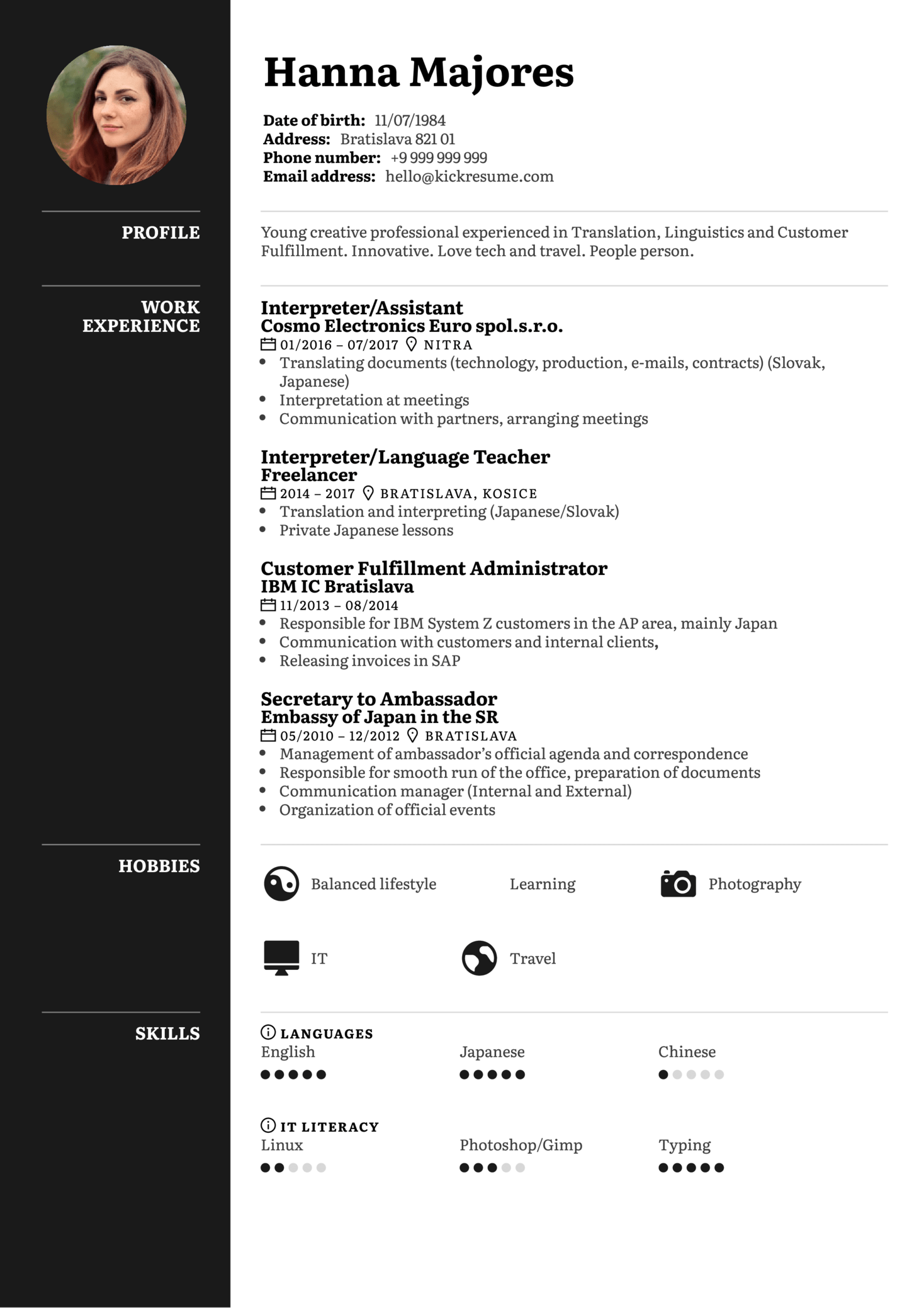 Customer Support Resume Example (Part 1)