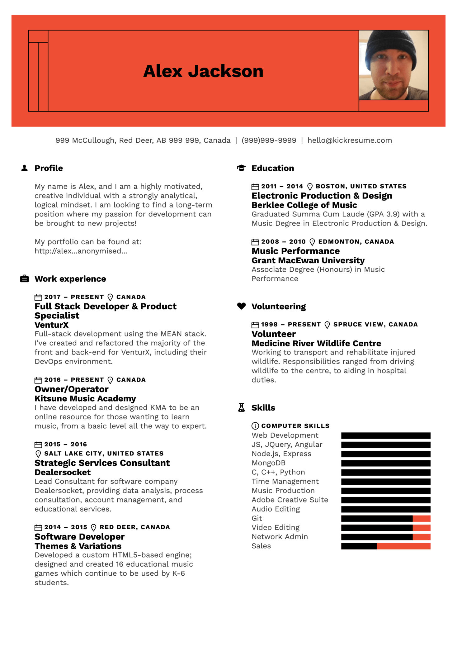 Product Specialist Resume Template (parte 1)