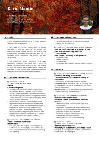 T-Mobile Junior Product Manager Resume Sample