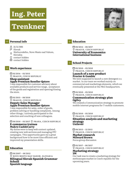Dell Junior Product Line Manager Resume Template
