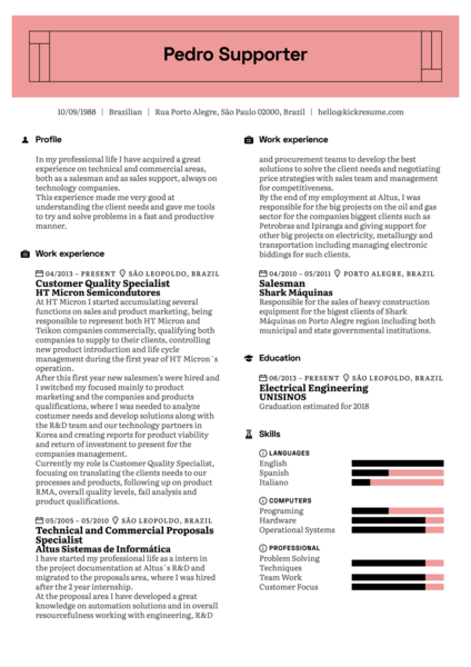 Vodafone Release Manager Resume Example
