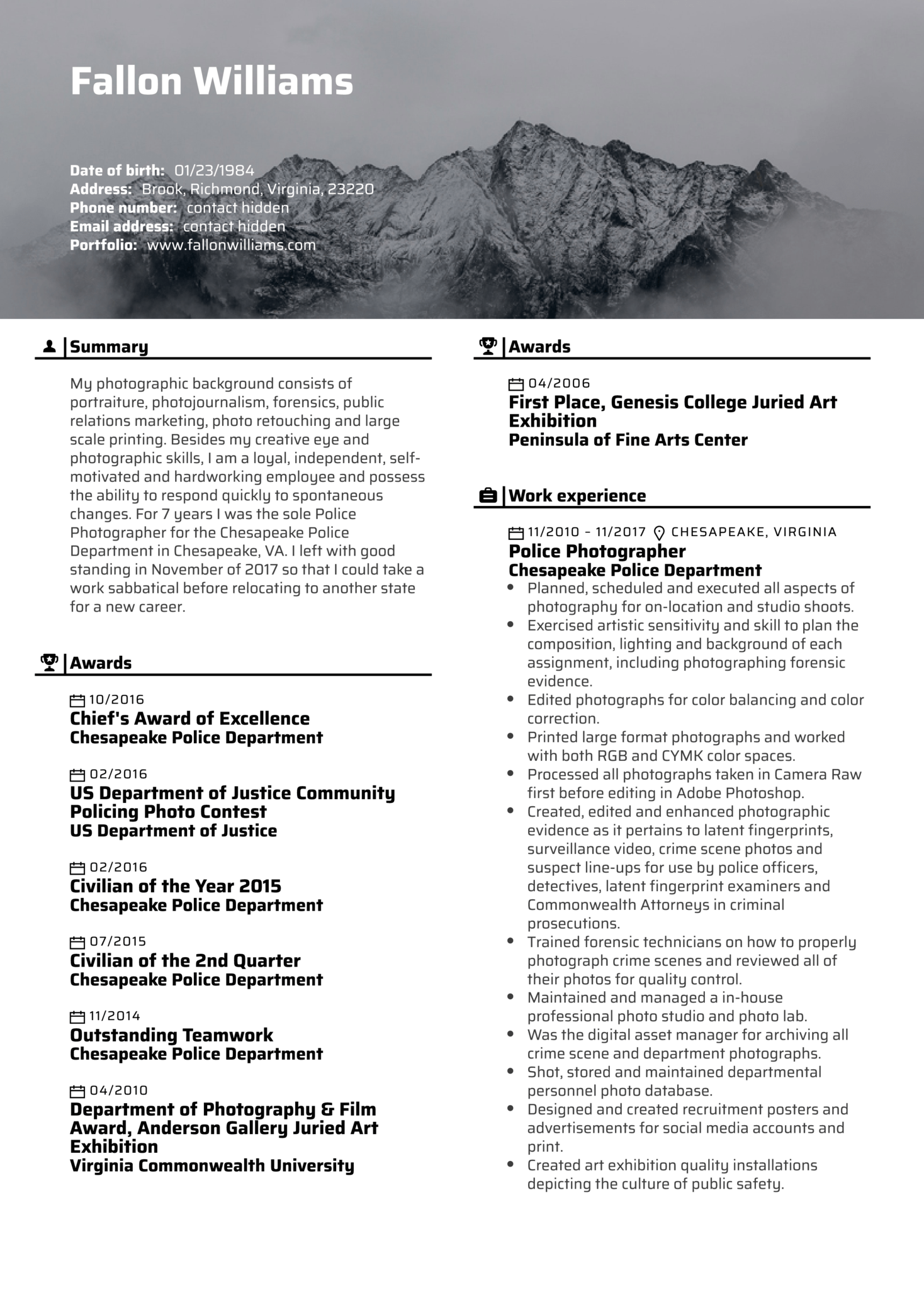 Photo Editor Resume Template (parte 1)