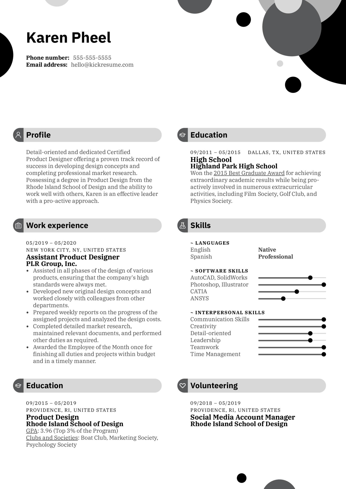 Creative Resume Example (parte 1)