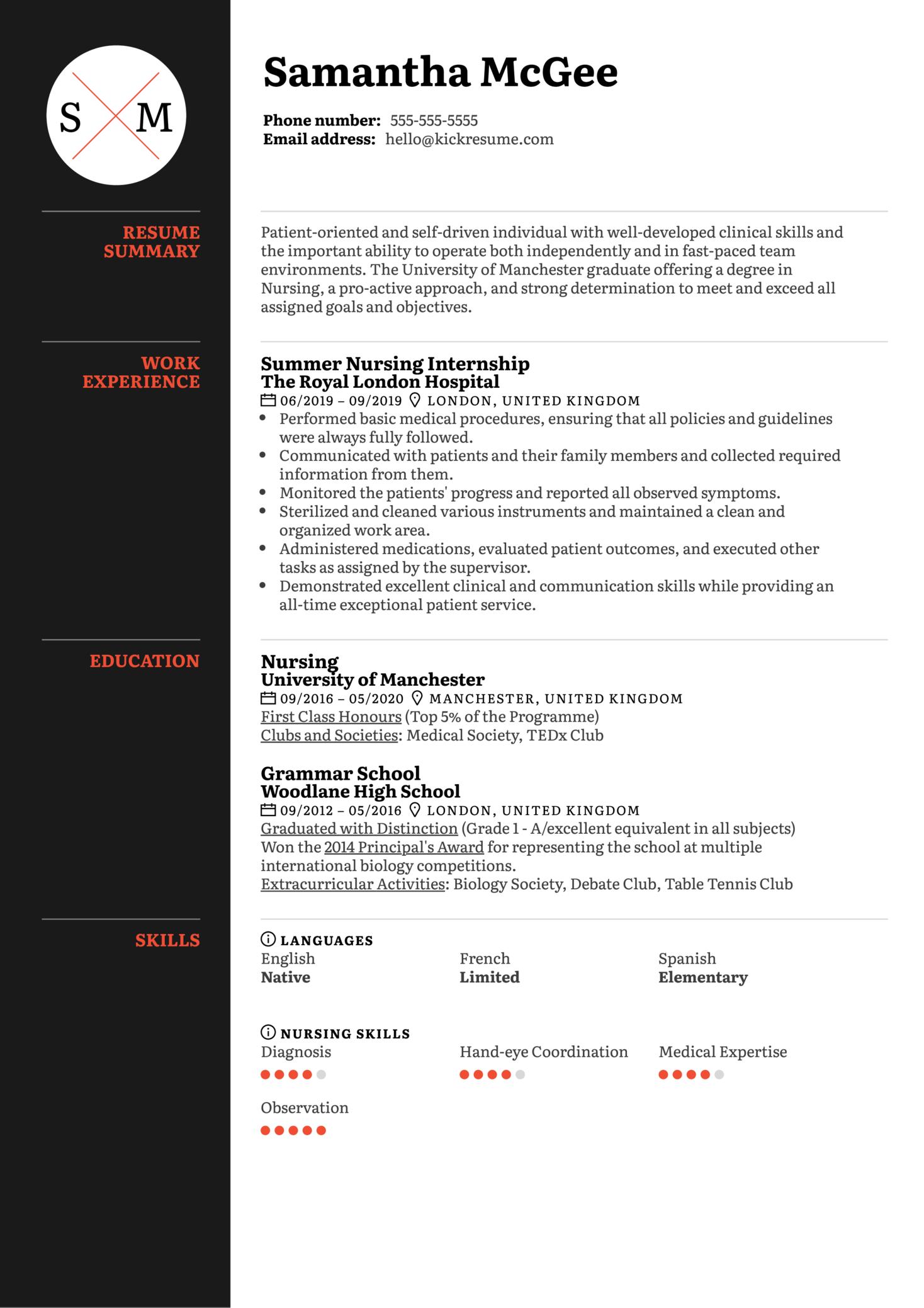 New Grad Nurse Resume Template (Part 1)