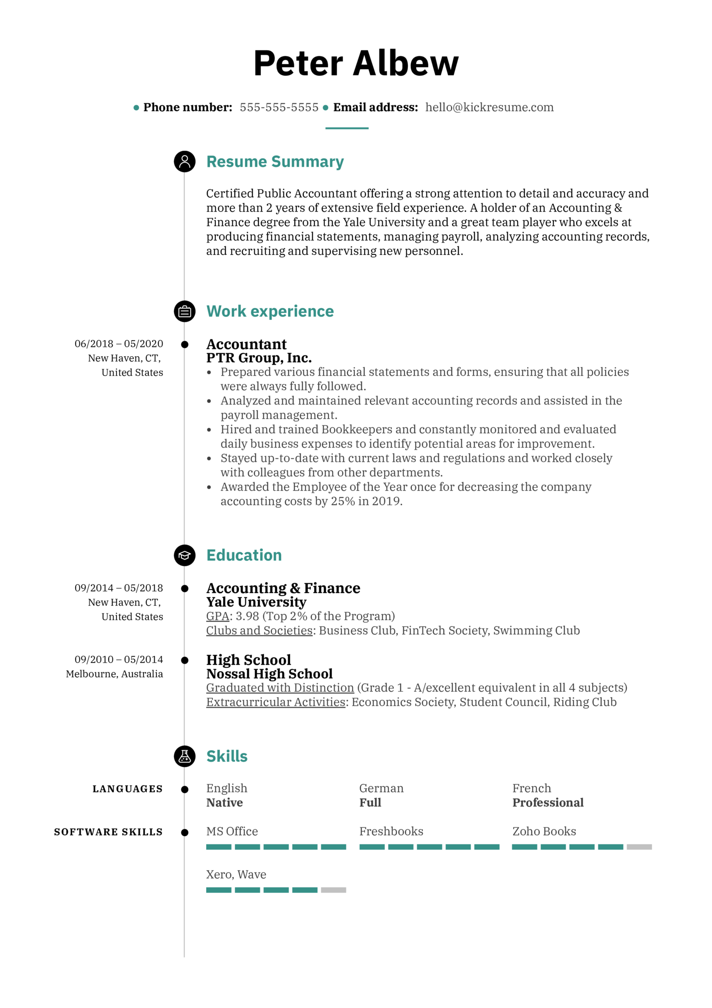 Resume Summary Example (Part 1)