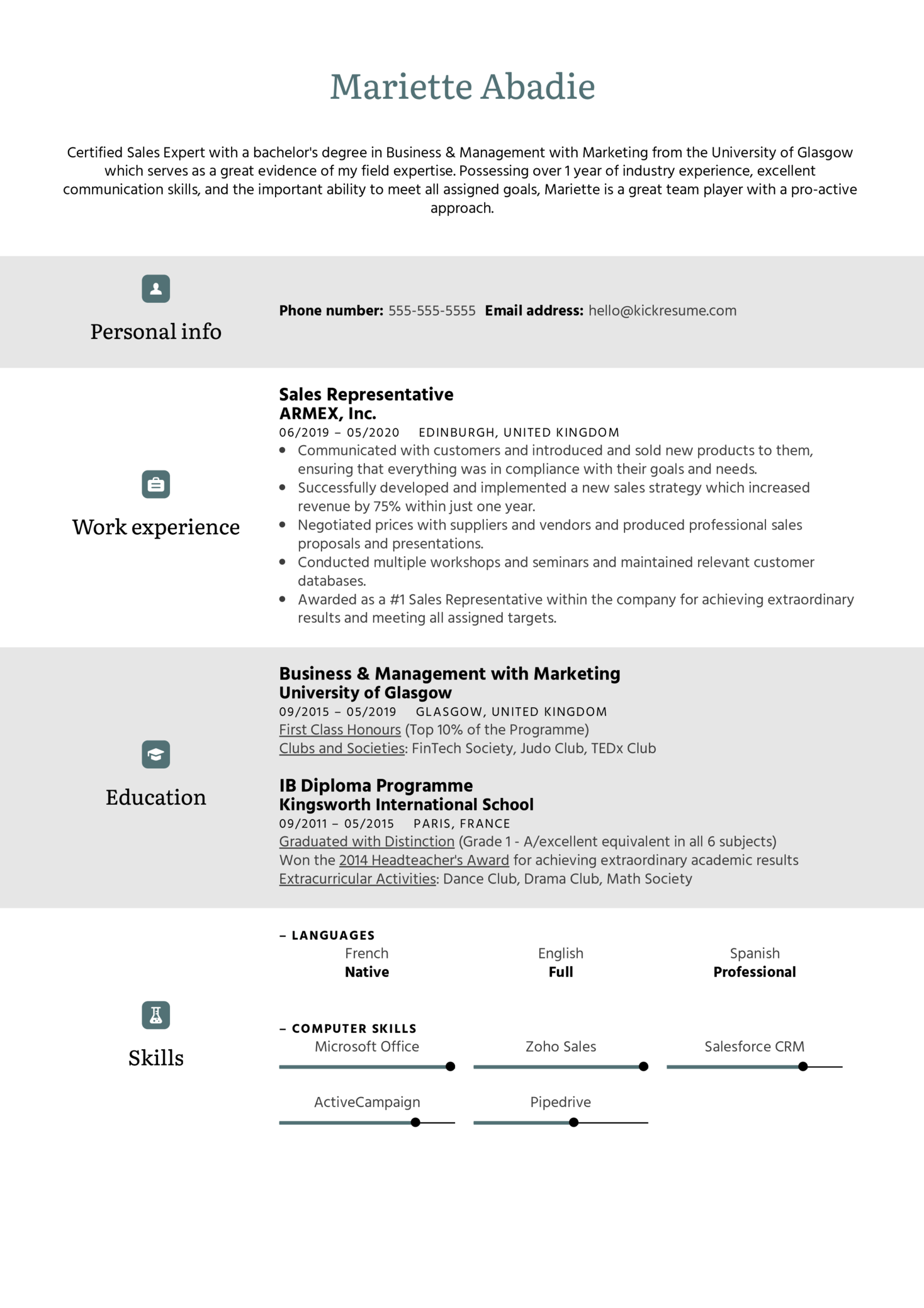 Simple Resume Template (Part 1)