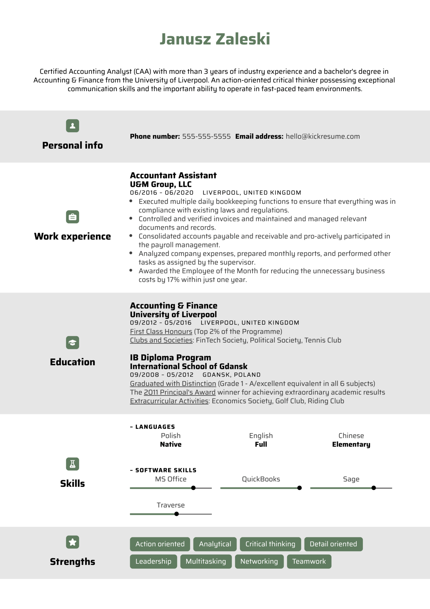 Professional Resume Template (Part 1)