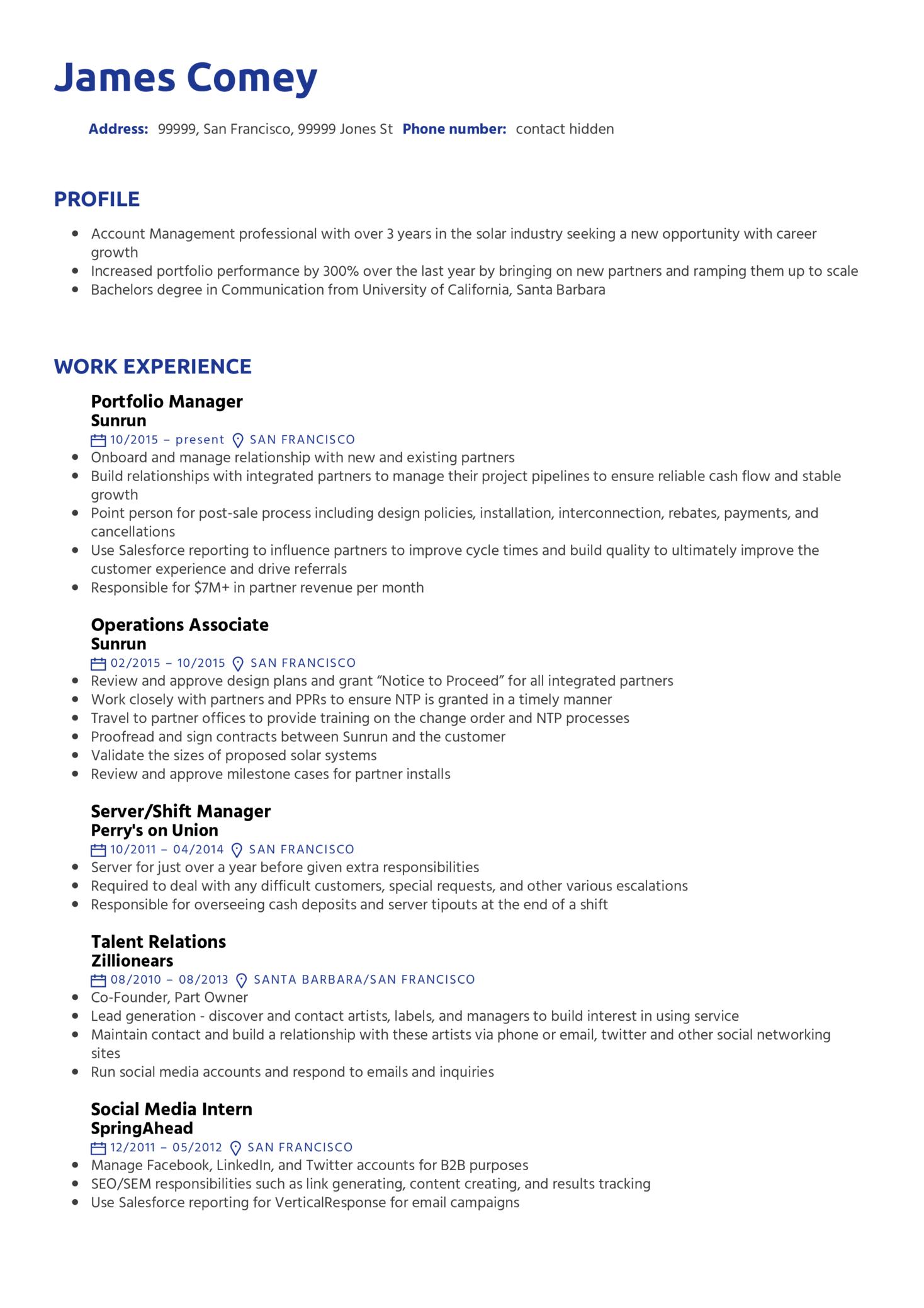 Portfolio Manager Resume Template (Parte 1)