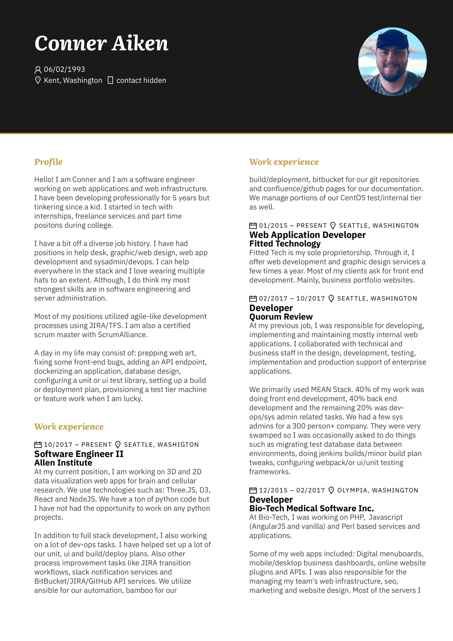 Software Engineer Resume Sample (Hired) (Part 1)