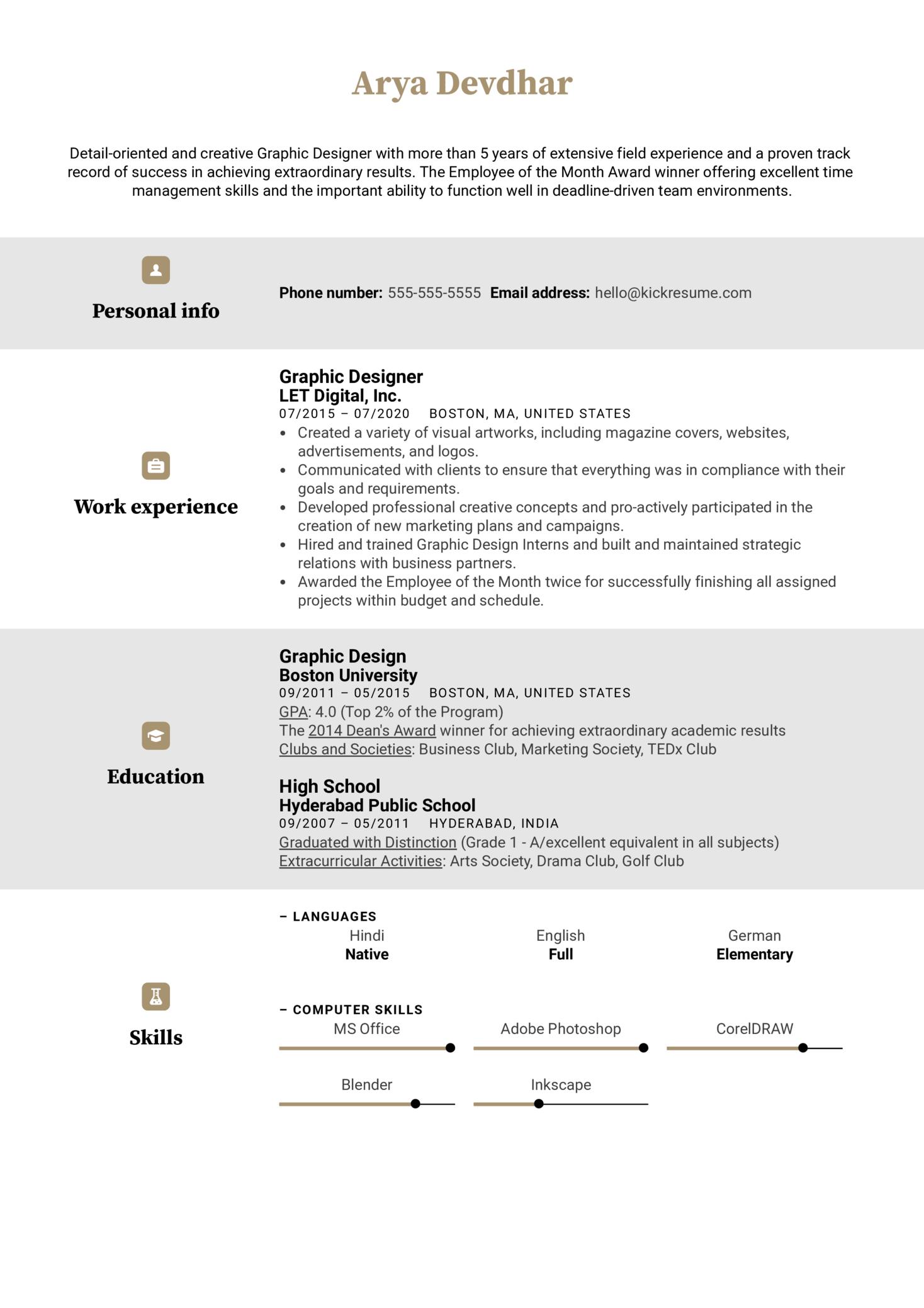 Creative CV Template (Part 1)