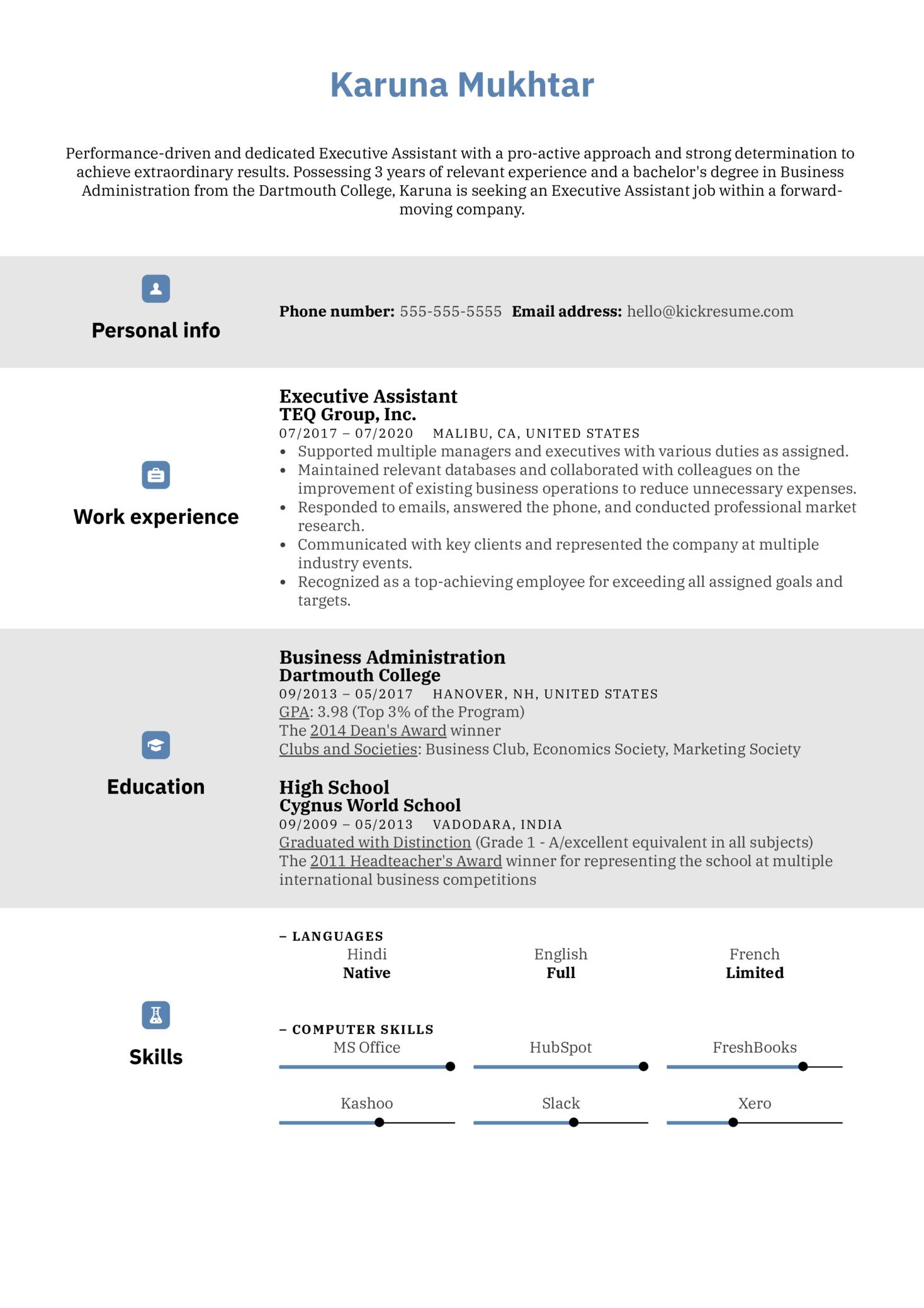 Modern CV Template (Part 1)