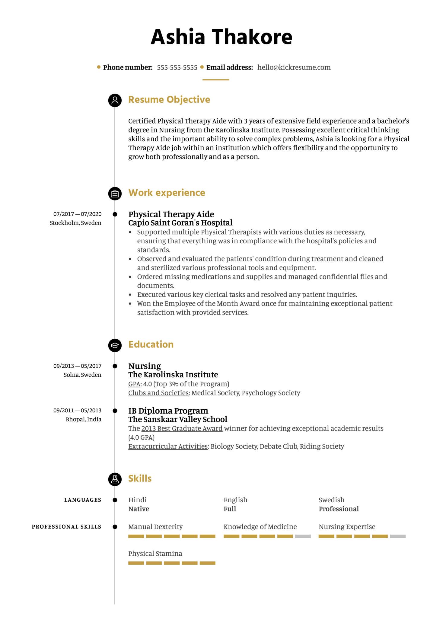 Free Physical Therapy Aide Resume Example (parte 1)