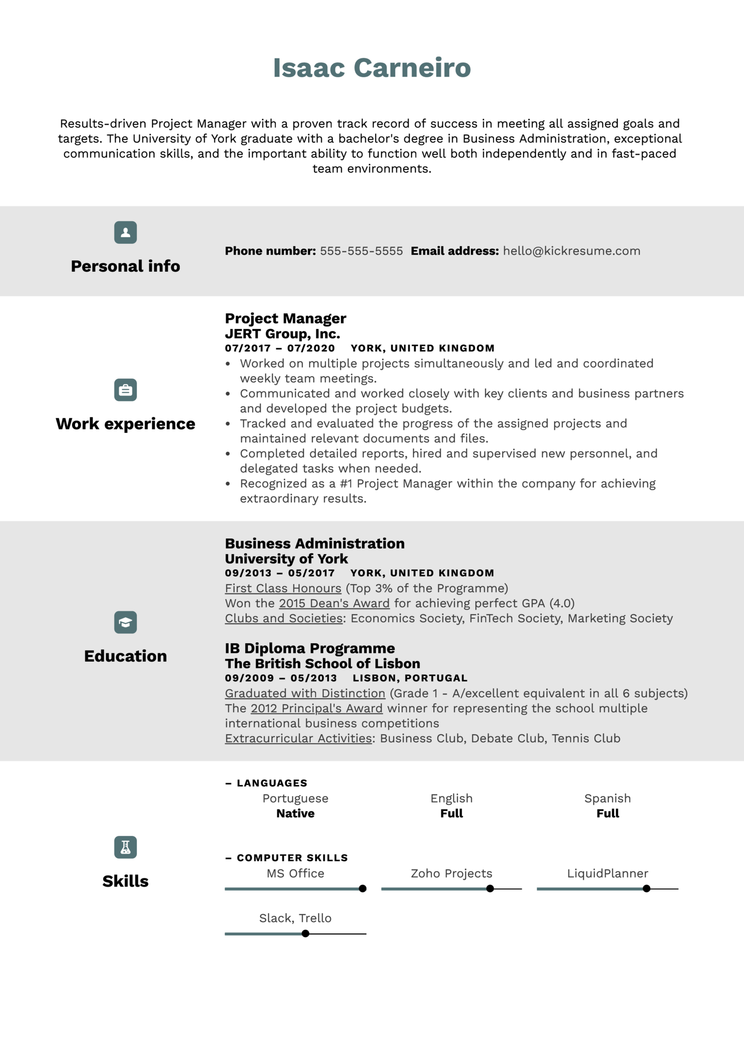 Education on a Resume Example (Part 1)