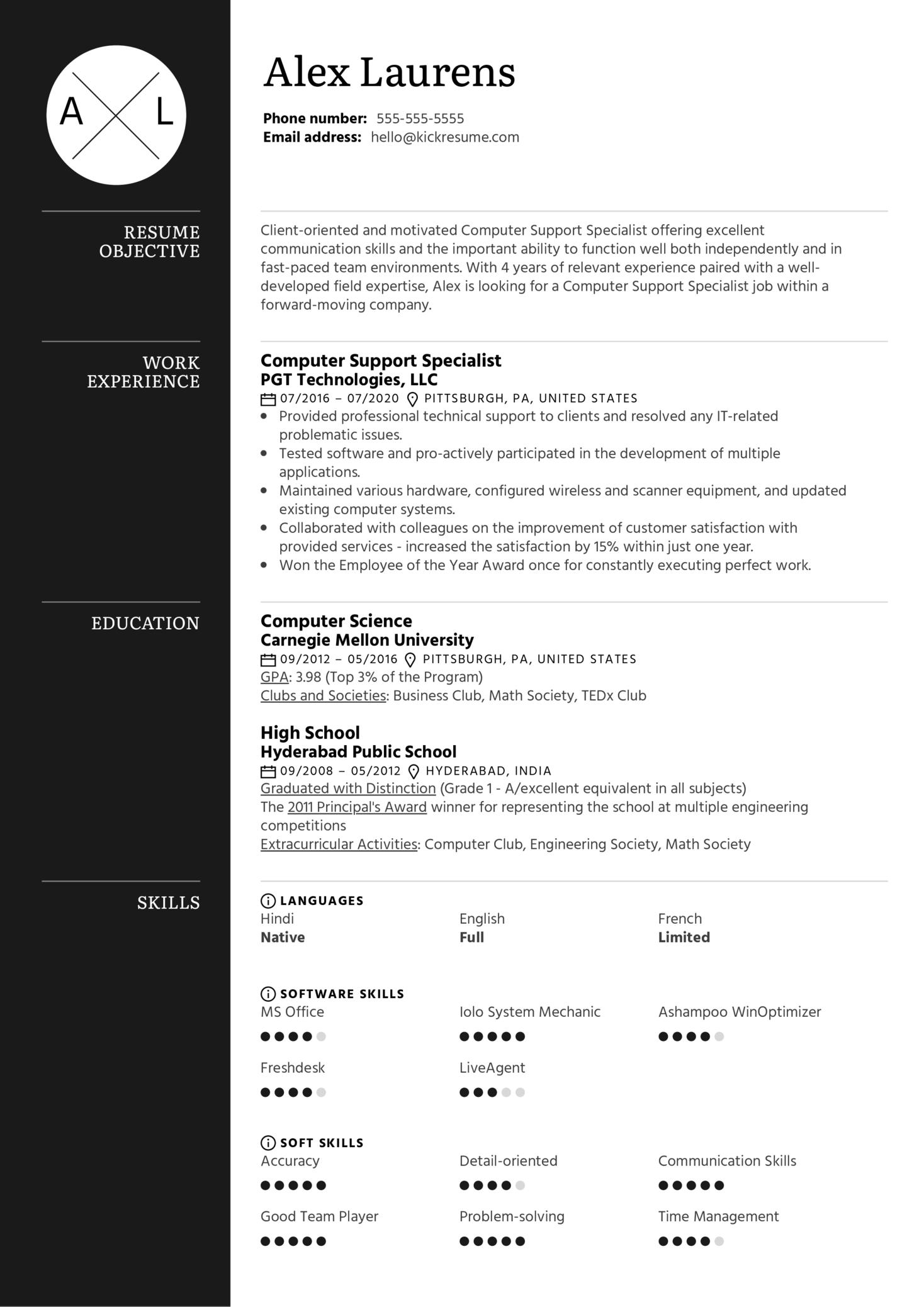 Basic Resume Template (Part 1)