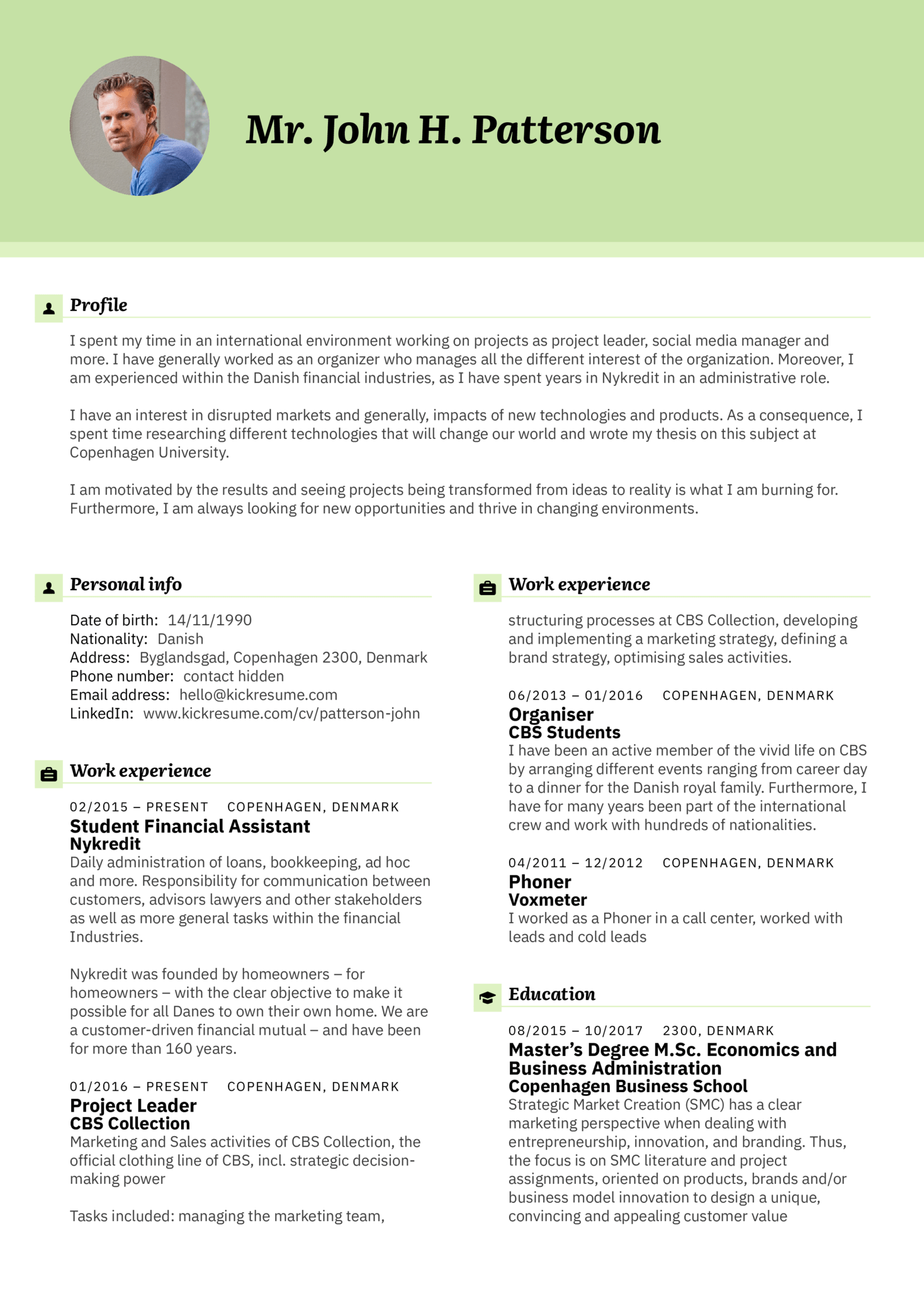 BMI Group Executive Assistant Resume Example (Part 1)