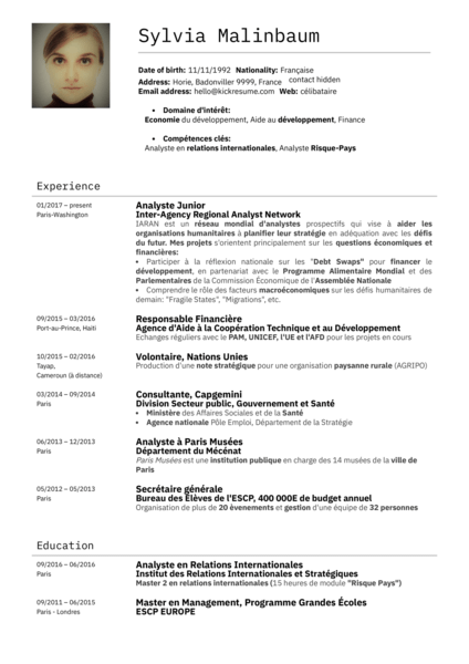 L'économiste du Ministère Des Finances Français