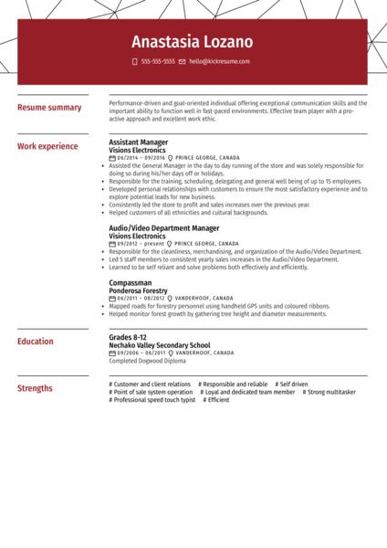Telus Call Center Representative Resume Example