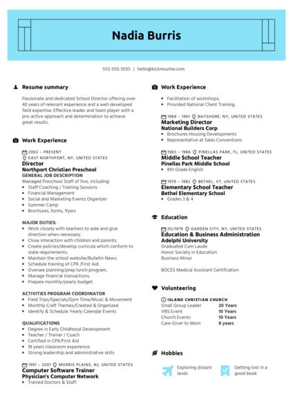 Recreation Associate Resume Example