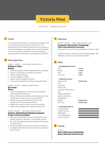 TubeBuddy Software Tester Resume Example