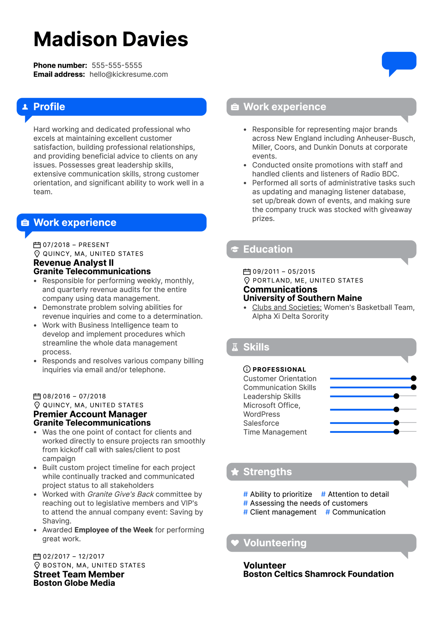 InformaClient Relationship Manager Resume Example