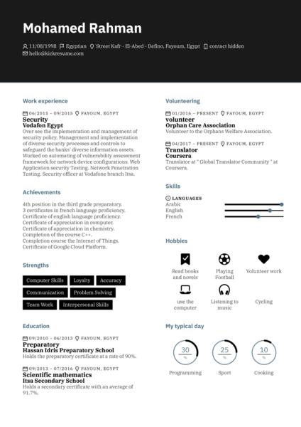 IBM Software Engineer Resume Example