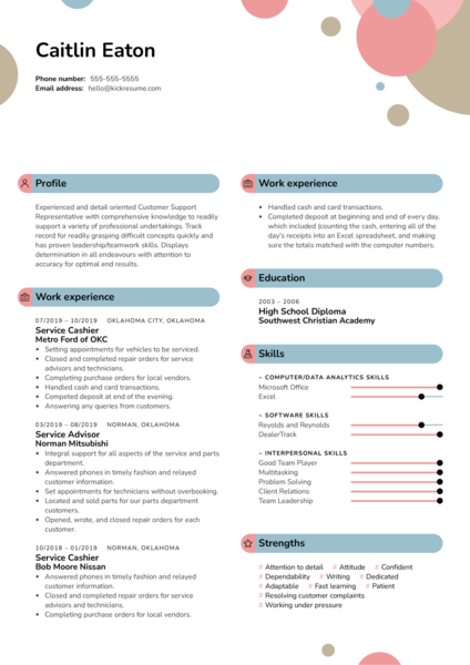 Williams-Sonoma Customer Service Resume Example