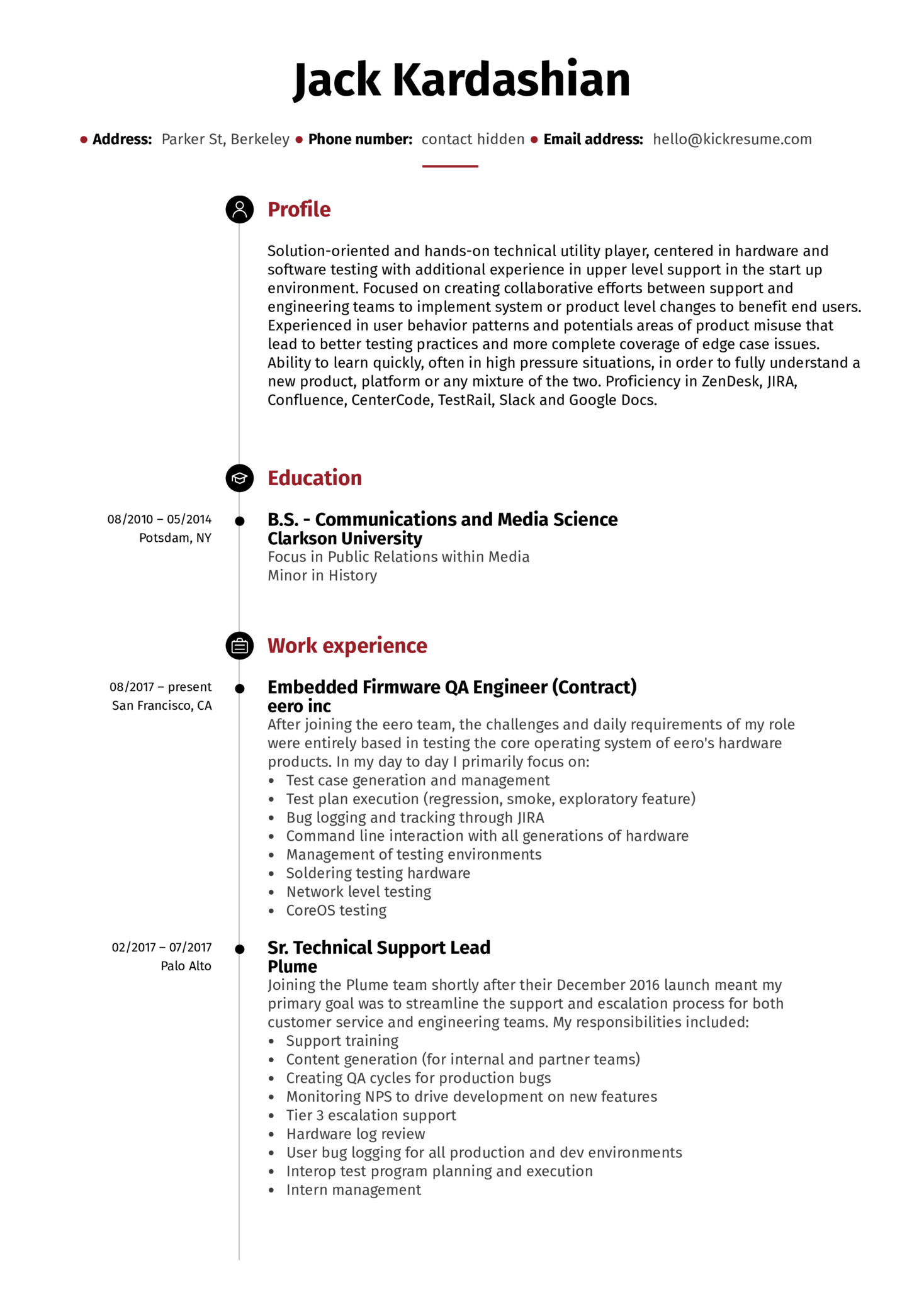 Technical Lead Resume Example (Part 1)