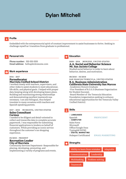 Freedom Forever Customer Support Resume Example