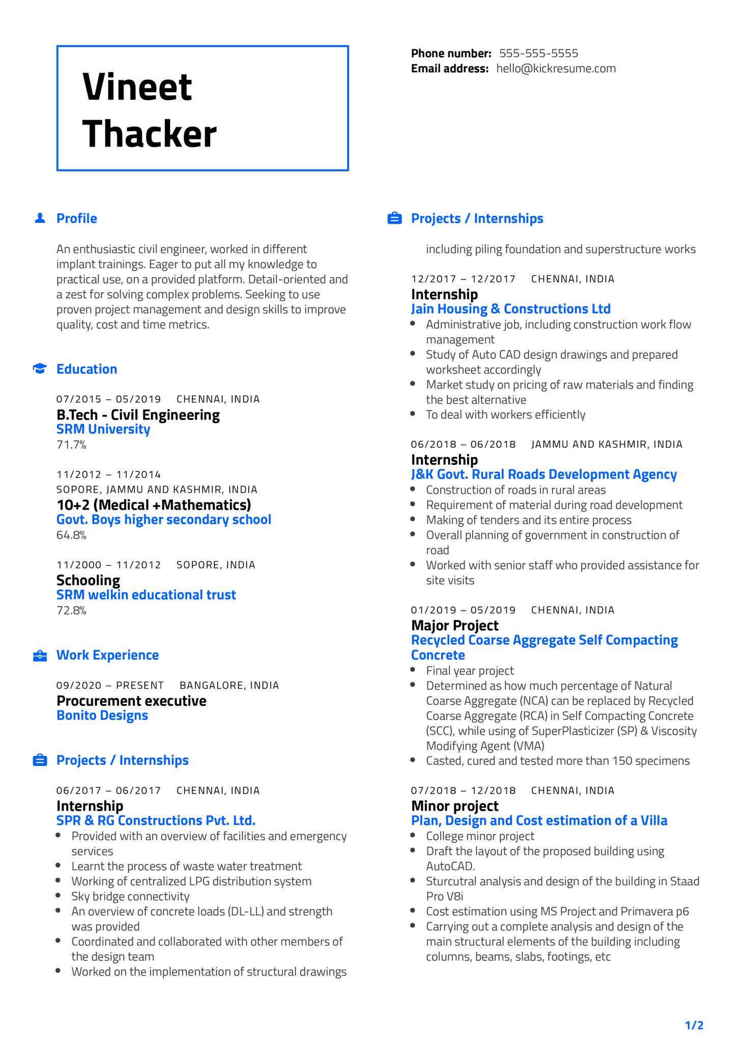 Procurement Executive Resume Sample (Teil 1)