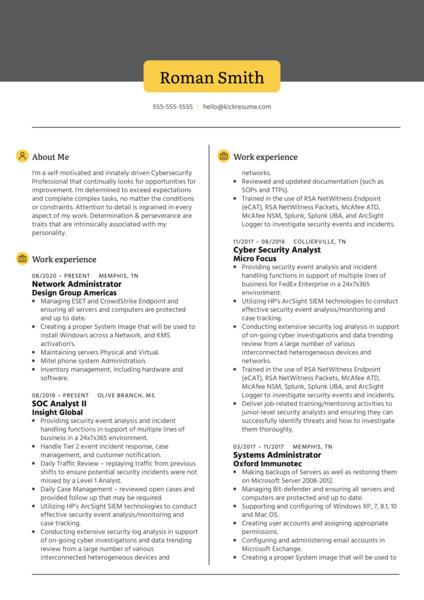 Network Administrator at Design Group Resume Sample