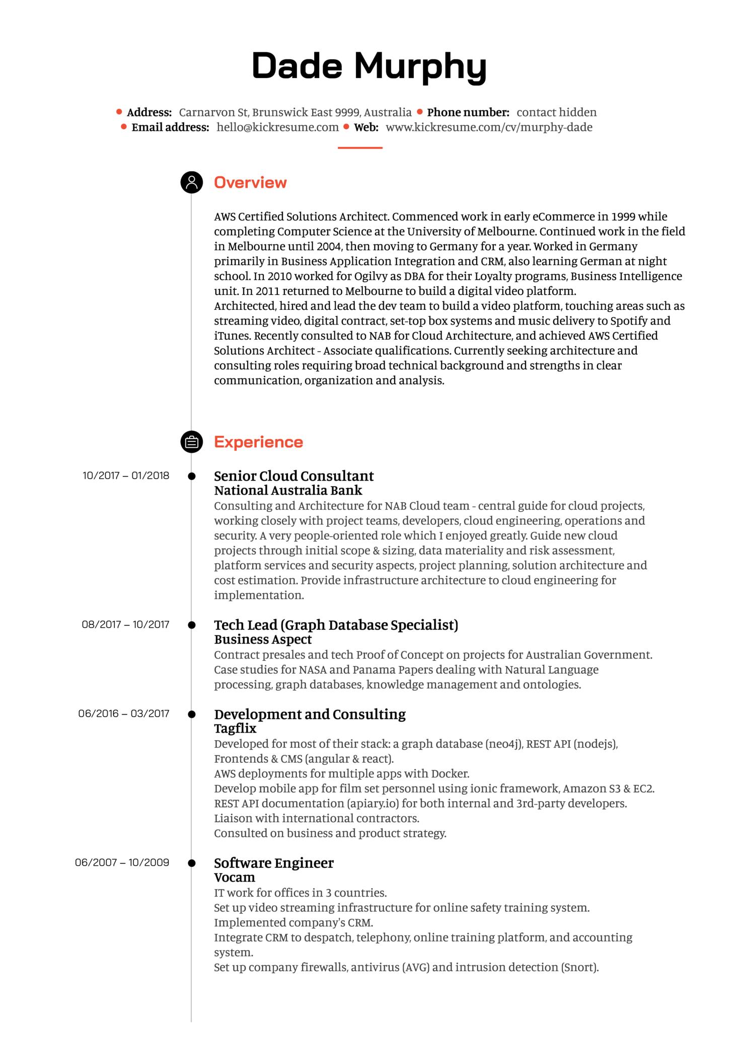Bank Senior Cloud Architect Resume Example (Parte 1)