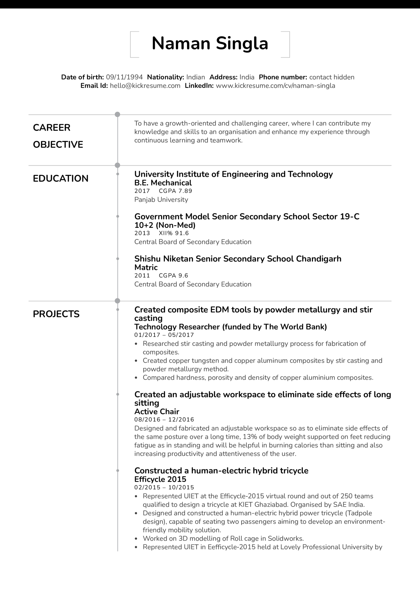 Technology Researcher at the the World Bank Resume Sample (parte 1)