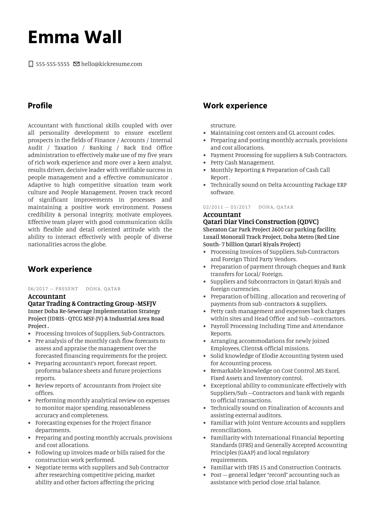 DB Schenker Accountant Resume Example (Teil 1)