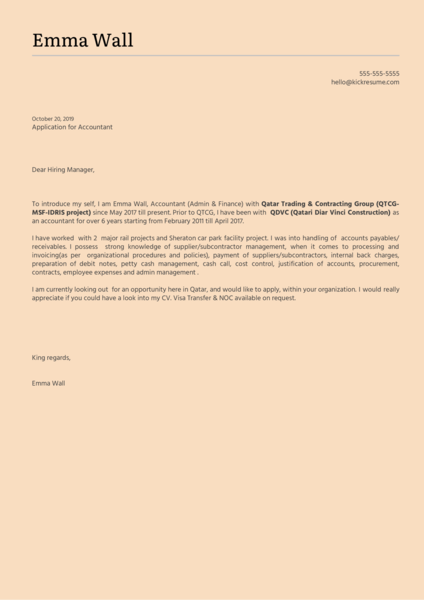 DB Schenker Accountant Cover Letter Template