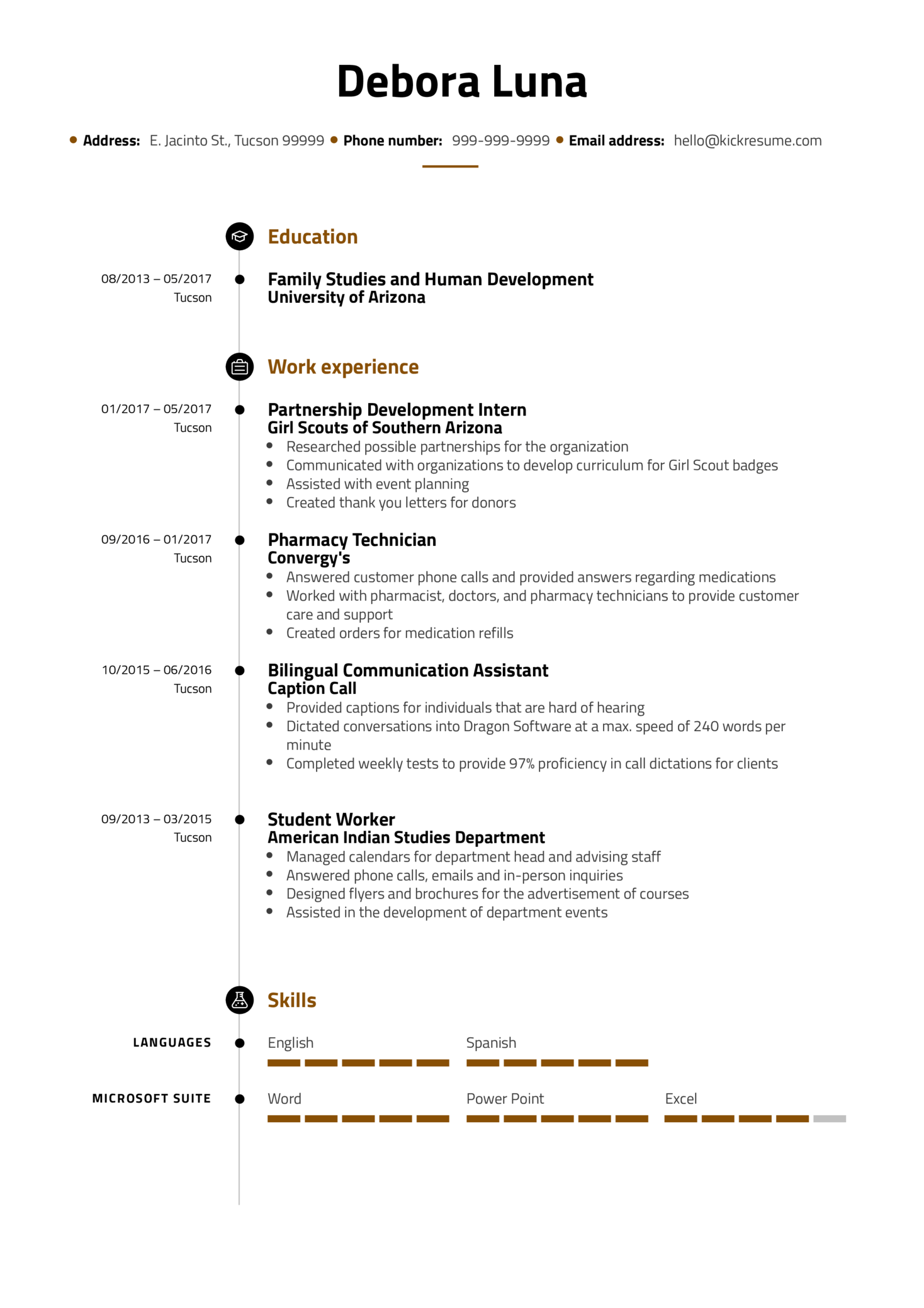 Service Coordinator Resume Example (Parte 1)