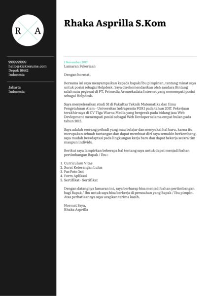 Contoh Surat Pemasaran Digital [indonesian]