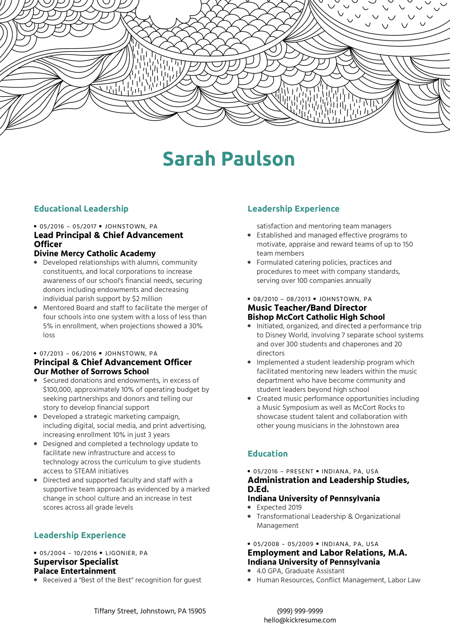 Administrative Manager Resume Sample (parte 1)
