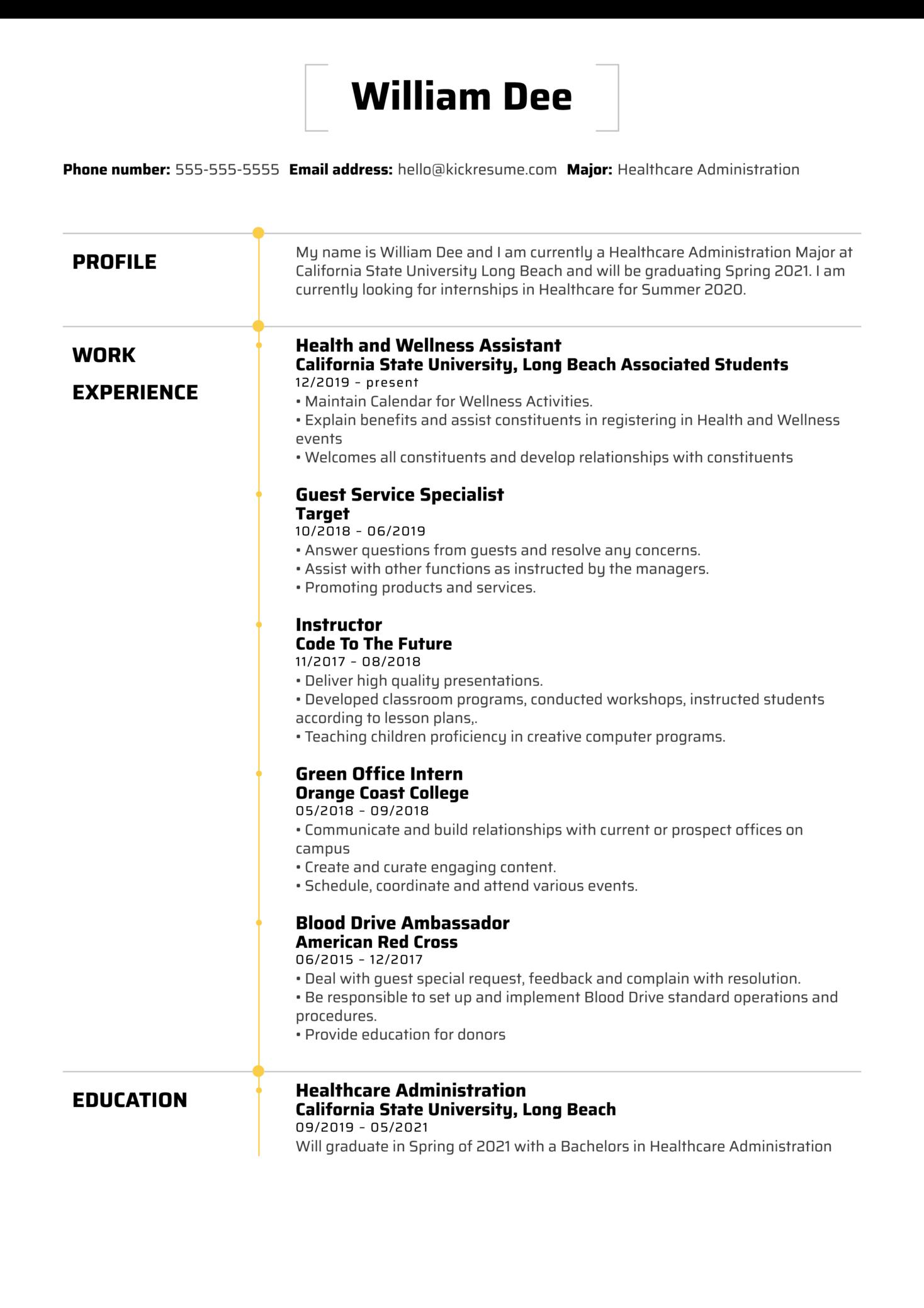 Beach Balance Assistant at UC Long Beach Resume Sample (parte 1)
