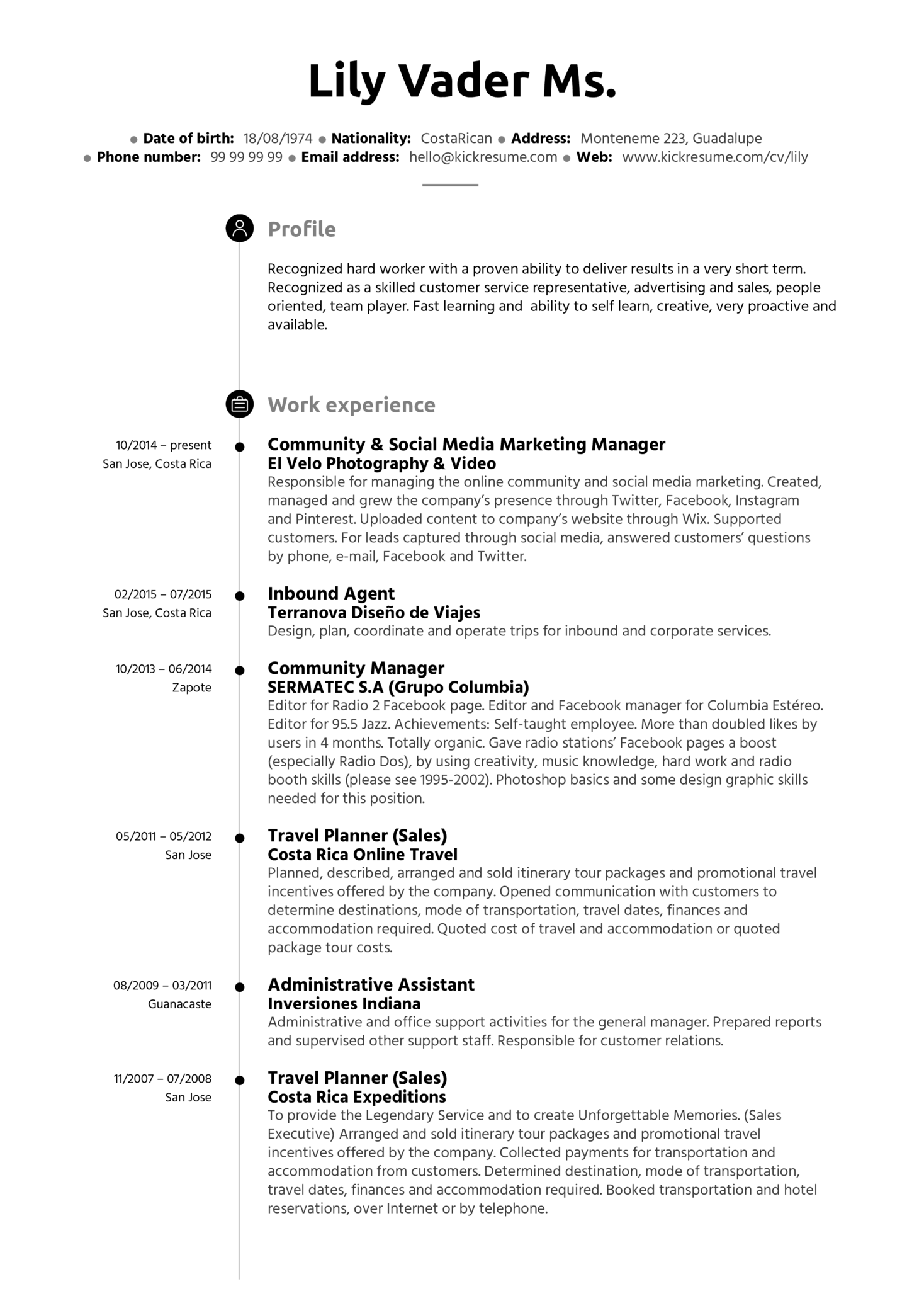 Administrative Assistant Resume Example (Parte 1)