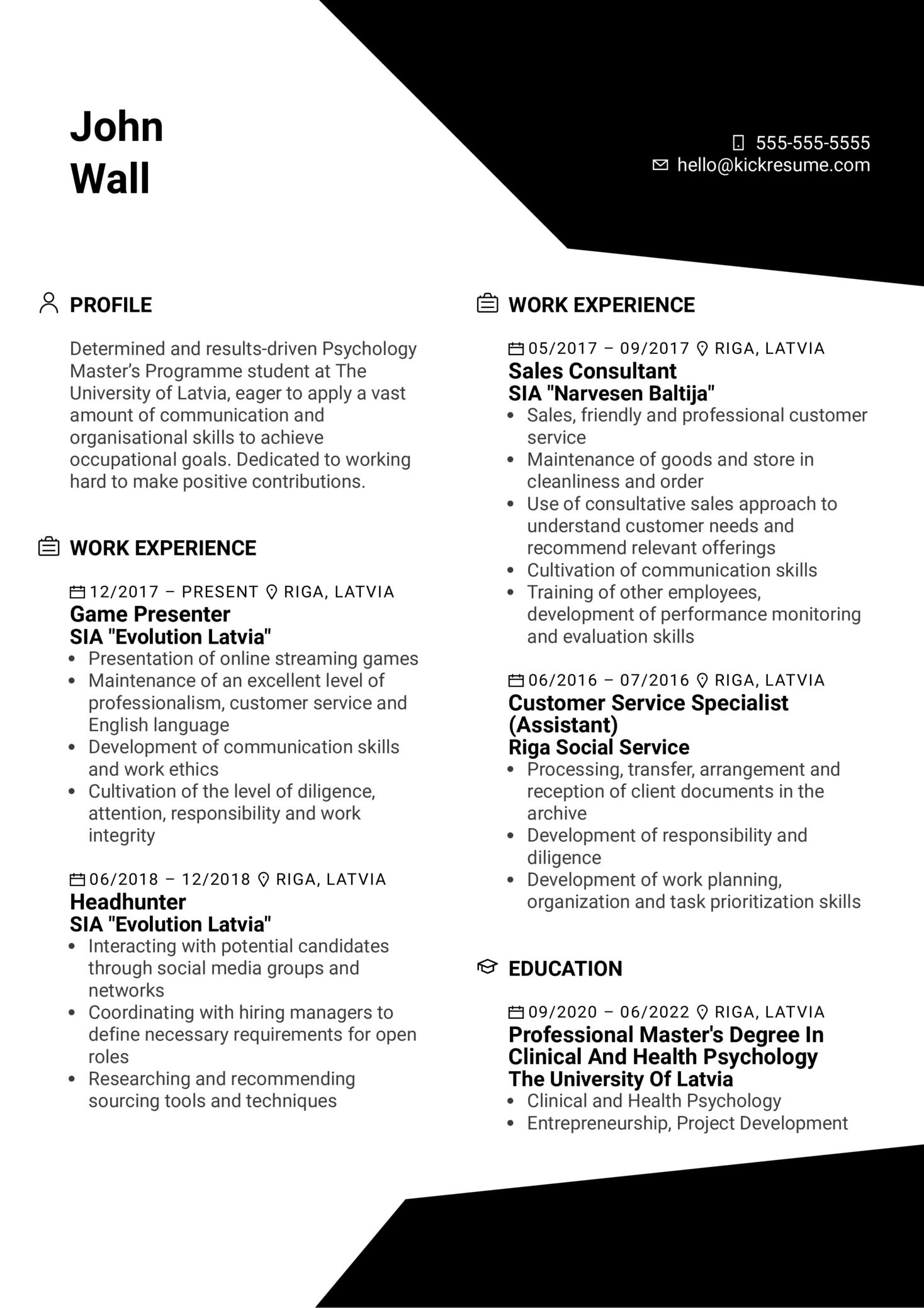 Training Specialist at Evolution Resume Sample (parte 1)