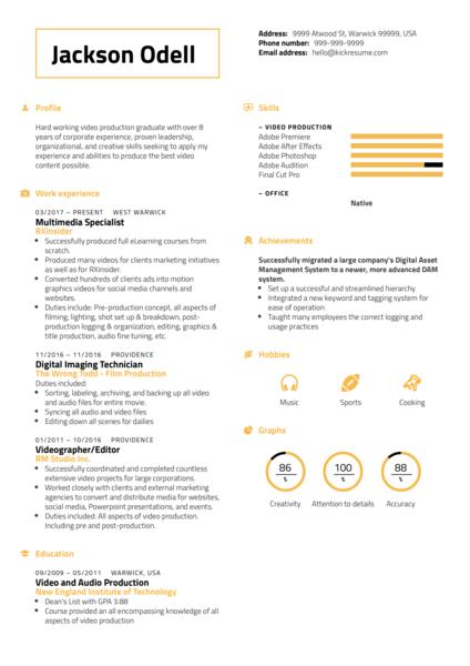 RXinsider Multimedia Specialist CV Sample